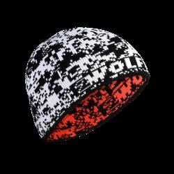 Obrazek Czapka DEER biała/pomarańczowa